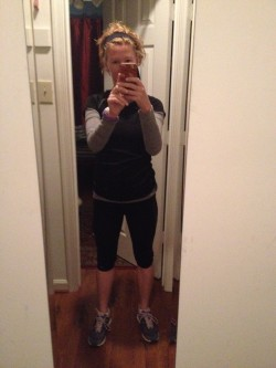 Ready for my early morning run today - in the dark and the cold!